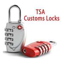 ingrosso sbloccare la pistola dell'utensile porta-6 stili TSA Customs blocca 4 cifre Codice Combination Lock Resettable Travel Bagaglio Padlock Valigia di alta sicurezza serrature