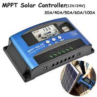 Wholesale solar panel 12v battery online - 1 Pc LCD Display MPPT Solar Charger Controller Solar Panel Battery Intelligent Regulator V V Solar Panel Power Controller USB Mobile Pho
