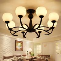 ingrosso piccole lanterne bianche-Nordic piccolo soggiorno americano soggiorno led lampadario sala da pranzo arte soffitto semplici lampade e lanterne atmosferiche