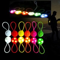 мигает красный синий фонарик оптовых-Туризм ночь свет предупредительный световой сигнал на открытом воздухе езда на велосипеде задний фонарь круговой силикон LED альпинизмом свет на открытом воздухе езда lighta предостерегают огни