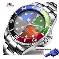 automatische mechanische uhren großhandel-Tevise Luxus Wasserdichte Automatische Männer Mechanische Uhr Auto Datum Vollstahl Business Top Marke Mann Uhren Wasserdicht