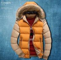 herren frühjahr jacke mantel großhandel-Mens Solid Winter Daunenjacken mit Kapuze Frühling Herbst warm dicke warme Daunenjacken Designer-Kleidung Mäntel