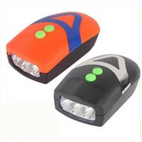 bisiklet boynuzu aydınlatması toptan satış-Altı Sesleri LED Bisiklet Farlar Çok Fonksiyonlu Horn Lambası Su geçirmez Loud Ses Bisiklet Işıklar Enerji Tasarrufu Sıcak İndirim 5 5dhI1