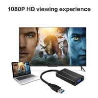 Wholesale external video card adapter for sale - Group buy USB to VGA Adapter USB External Video Card for Windows Mac Most Compatible Resolution for USB to Display free DHL