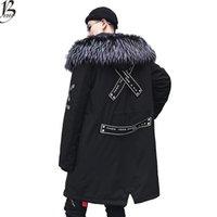 mens uzun sıcak kışlık palto toptan satış-Kış Sıcak Ceket Erkekler Kalın kadife Sıcak Ceketler Parkas hombre Erkek Kapşonlu ceket uzun trençkot ABD Boyutu XS-XL