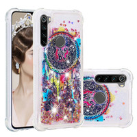 Wholesale back cover redmi note online – custom For Galaxy A10S A20S A30S Redmi Note Pro K20 Shockproof Eiffel Tower Quicksand Soft TPU Case Unicorn Liquid Bling Dreamcatcher Back Cover