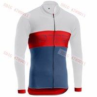 jersey rojo de manga larga al por mayor-Camiseta de ciclismo de mangas largas para exteriores de exterior 2019 Maglia ciclismo Color blanco y rojo para hombres Secado rápido (tops para montar 4 estilo