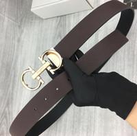 Wholesale white belt for top women resale online - 263 TOP Men belt womens high Quality Genuine Leather black and white color Cowhide Belt For Mens WOMEN Belt box