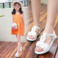 Wholesale korean children boy shoes for sale - Group buy Girls sandals summer new Korean version of the big children students princess shoes little girls children soft bottom