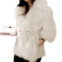 8ac48d822a5 Winter Thick Warm Mink Coats Fluffy Faux Fur Jacket Fake Rabbit Fur Ladies  Coat Manteau Fourrure Femme Plus Size 2XL