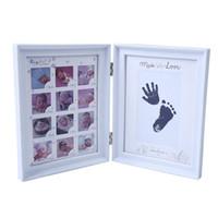 fotos de tinta al por mayor-Mi primer año del bebé embroma el regalo regalo de cumpleaños de la decoración del hogar de la familia ornamentos de 12 Meses de imagen Photo Frame con tinta del arte del cojín