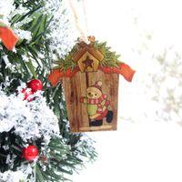 Wholesale unique ornament for sale - Group buy 3PCS Unique House Wooden Board Christmas Tree Hanging Decoration Festive Party Supplies Christmas Hanging Decoration