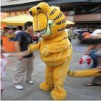 ingrosso garfield di halloween-Garfield Mascot Costume Adult game Unisex Fancy Dress Outfit Halloween