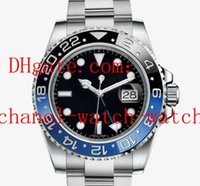 ingrosso 116713 lunetta in ceramica-5 Style Perpetual Lunetta in ceramica nera e quadrante 40mm GMT Workin 116718 116710 116713 Data Automatic Mens Watch Orologi da uomo movimento