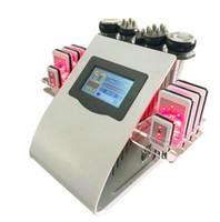 equipamento de spa gratuito venda por atacado-40k Ultrasonic lipoaspiração cavitação 8 almofadas 6 em 1 LLLT lipo máquina de emagrecimento a laser RF cuidados com a pele salão de beleza equipamentos de spa DHL navio livre