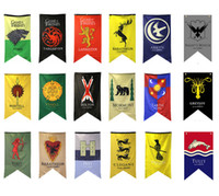 Wholesale banner props for sale - Group buy 18styles Styles cm Game of Thrones Flags Garden decoration Flag DIY Yard Decorative Hanging Home Banner Flags party props FFA1969