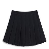 reißverschlüsse kaufen großhandel-Frauen-Tennis-Faltenröcke Normallack-dünner dünner hoher Taillen-Reißverschluss-sicherer klassischer Mädchen-Minirock eingebaute Sicherheitshosen YS-BUY