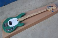 Wholesale best semi hollow electric guitar resale online - Bass Guitar StingRay Music Man green Electric Bass Best Musical instruments Active pickups