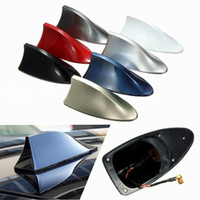 Wholesale volkswagen car radio resale online - Car Exterior Roof Shark Fin Adhesive Sticker Antenna FM AM Signal Radio Aerial