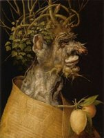 ingrosso immagini inverno-Giuseppe Arcimboldo -Winter Home Wall Art Decor dipinti a mano HD Stampa Wall Art Canvas Pictures 190906