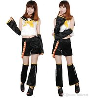 rin kagamine cosplay costume venda por atacado-VOCALOID II Rin Kagamine traje cosplay
