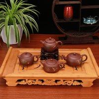 teteras yixing al por mayor-Chino juego de té de la tetera Bellezas olla completa hecha a mano Yixing tetera de arcilla hechos a mano 4 Elija Estilo