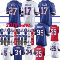 Buffalo Jersey 17 Josh Allen Bills 12 Jim Kelly 49 Tremaine Edmunds 25  LeSean McCoy 27 Tre Davious Blanc 34 Thurman Thomas Jerseys hot 5784f51cd