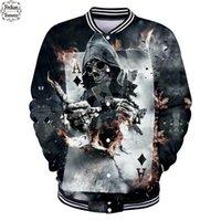 veste des états-unis achat en gros de-Frdun Skull 3D Veste Hommes Mode Casual Veste D'hiver Hommes 2019 États-Unis Nouveau Style Casual 3D Vêtements XXS-4XL