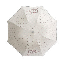vinilo protector solar al por mayor-1PC Cute Hello kitty Girls Vinyl Fresh Sunscreen UV Protection Rain Umbrella Folding Umbrella Kids D5
