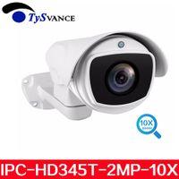 caméras ip66 ptz achat en gros de-Caméra de surveillance de sécurité CCTV IP66 extérieur étanche étanche IP 2X HD 2MP 1080P PTZ Bullet Pan / Tilt 10X