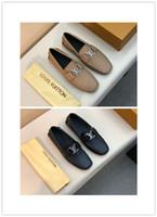 nefes alabilen iş rahat ayakkabılar toptan satış-2019 erkekler hakiki deri iş ayakkabıları 3 renkler lüks tasarım yüksek kalite rahat ve iş rahat nefes