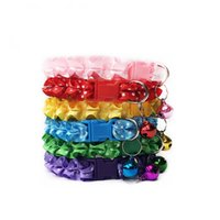 Wholesale cat collar cartoon for sale - Pets Collar Lace Bell Cat Dog Chain Cloth Quality Adjustable Colorful Sturdy And Durable Adult Hot Sales trE1
