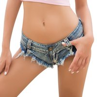 Wholesale low waist sexy girls jeans resale online - Sexy Women Girl Low waist Shorts Ripped Denim Jeans Fashion Pantalones Cortos Summer Bottoms Shorts Jean shorts for Lady