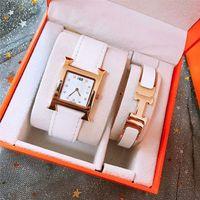relojes de marca valentine al por mayor-2 sets Top brand ladies watch pulsera de moda de lujo relojes de pulsera para las mujeres regalo de san valentín con caja de regalo resistente al agua Montre Femme