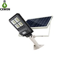 Wholesale led long range lamps for sale - Group buy New Solar Street Lamp IP67 W W W Long Range PIR Sensor with Remote Control Integrated Solar Street Light