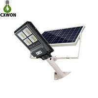 lámparas led de largo alcance al por mayor-Nueva lámpara de calle solar IP67 30W 60W 90W Sensor PIR de largo alcance con control remoto integrado Luz de calle solar