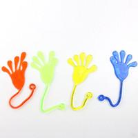 brinquedos novidade mão venda por atacado-Squishy novidade tamanho médio slime yoyo mão pegajosa toys for kids partido oferta de presente pegajoso geléia vara tapa mole mãos brinquedo