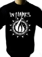 Wholesale new loom bands for sale - In Flames Band Black New T Shirt Fruit of the Loom ALL SIZES Custom t shirt logo text photo Mens Womens T shirt men tshirt rock