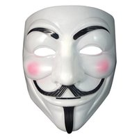 hacker mask venda por atacado-Anonymous Hacker Vendetta Guy Fawkes máscaras Fancy Dress Adulto Acessórios Máscara Adulto Halloween Fancy Dress Cosplay V Vendetta