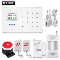 diy sistema de alarme de segurança venda por atacado-KERUI G18 Sem Fio Em Casa Sistema de Alarme de Segurança GSM DIY Kit APP Controle Com Auto Dial Detector de Movimento do Sistema de Alarme do Assaltante