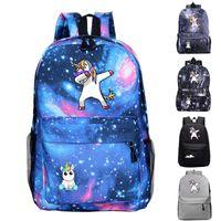 Wholesale women galaxy backpacks resale online - Animal Unicorn Backpacks College School Book Bag Galaxy Backpack Sack Travel Hiking Camping Daypack For Student Rucksack