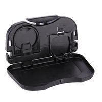 Wholesale car travel tray for sale - Group buy Folding Auto Cup Holder Back Seat Table Drink Tray Travel Desk Car Accessory