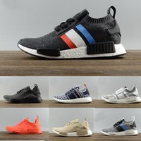 Wholesale nmd r2 white for sale - Group buy designer shoes Nmd R1 R2 Runner PK Mens sport shoes Womens Runner sneakers Black White Oreo Glitch Camo casual shoes