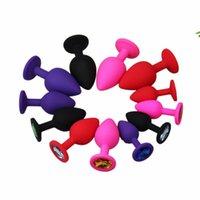 anus spielzeug mann großhandel-Neue Silikon Anal Sex Spielzeug Für Frauen Männer Erotische Butt Plugs Kristall Schmuck Erwachsene Booty Perlen Anus Produkte schnelles verschiffen