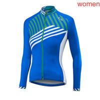 frauen fahrradbekleidung großhandel-2019 LIV Team Radfahren mit langen Ärmeln Trikot Fahrradbekleidung Outdoorsport Bequeme Kleidung Damenbekleidung 61316