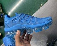 eua sapatos novos venda por atacado-Nova TN Plus Tênis de corrida Das Mulheres Dos Homens Preto Branco Tripe Pôr Do Sol Foto tn Lobo EUA Sapatos de Grife Esporte Sapatilhas Formadores Com Caixa