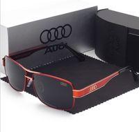 ingrosso driver audi-Occhiali da sole Audi Driver Occhiali da sole polarizzati UV380 in lega di marca Occhiali da sole da guida all'aperto anti-radiazioni da guida Guida gratuita