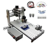 mini cnc roteadores venda por atacado-Fresadora CNC DIY 6030 3060 MACH3 Controle Diy Mini CNC router área de trabalho 29X57X9 cm PCB máquina de gravura