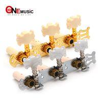 klassische gitarren-maschinenstöpsel groihandel-1R1L Chrome Classical Guitar Stimmwirbel Mechaniktuner