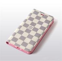 iphone schlanke brieftasche großhandel-Slim Monogram Casual Style Hülle für Iphone X XS XR XS MAX Hülle Anti-Rutsch Flip Fold Wallet mit Stand Pretective Hülle für Iphone 8 Plus Shell